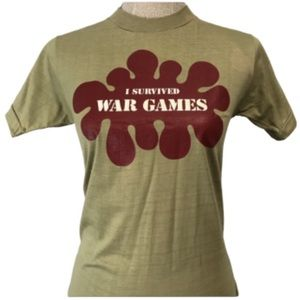 Tops - Tee-shirt cools graphic size small. War games?